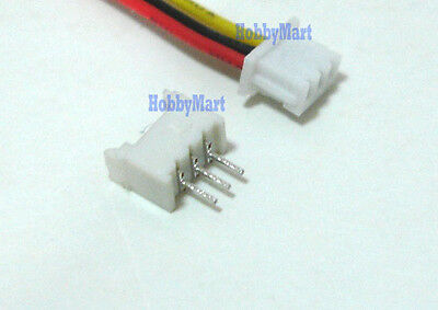 Mini. Micro 1.25mm T-1 3-Pin JST Connector with Wire x 10 sets