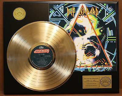 Def Leppard Hysteria Gold Lp Ltd Edition Record Display