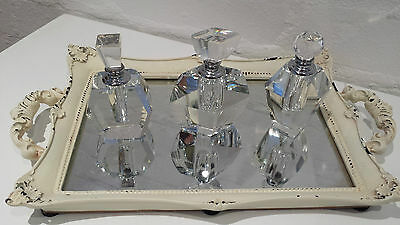 Art Deco Style Glass Perfume Bottles Bottle Vintage Dressing Table