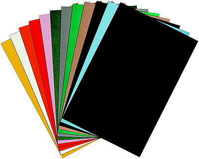 CPE EZ Solid Stiffened Felt, 12 X 18 Inches, Assorted Color, Pack of 25