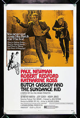 BUTCH CASSIDY AND THE SUNDANCE KID * CineMasterpieces MOVIE POSTER ROLLED 1969