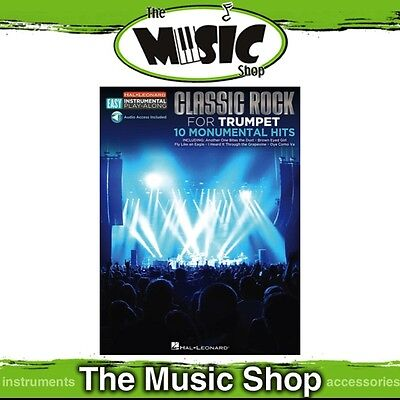New Hal Leonard Instrumental Play Along: Classic Rock for Trumpet Music Book