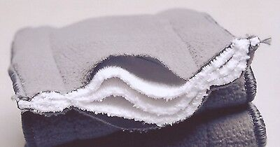 10x  5 Layers Bamboo Washable Reusable Charcoal Nappy Inserts For MCN 14*34cm