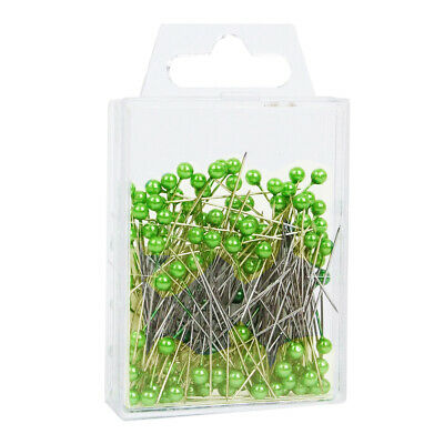Pearl head pins Lime / Apple Green florists corsage buttonhole 4cm Box of 144