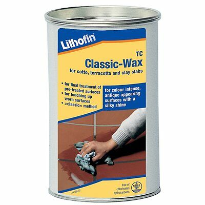 Lithofin TC Classic Clear or Antique Wax For Cotto, Terracotta & Clay Slab/Floor