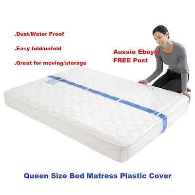 Queen Size Bed Mattress Protect Plastic Cover Moving & Storage Bag FREE Post