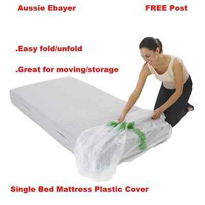 Single Size Mattress Protect Plastic Cover Moving & Storage Bag