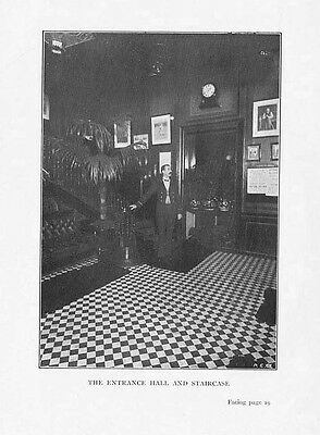 BOXING - THE NATIONAL SPORTING CLUB Entrance - Antique Photographic Print 1901