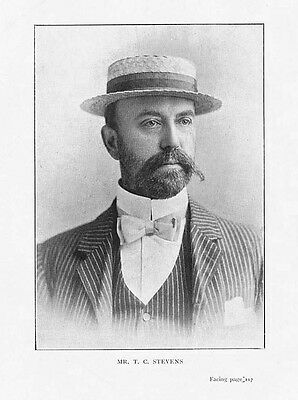 BOXING Mr T.C STEVENS Chairman of National Sporting Club Photographic Print 1901