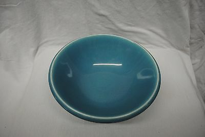 """Vint Homer Laughlin Epicure 8 7/8"""" Turquoise Blue Round Veg Bowl/Price Reduced"""
