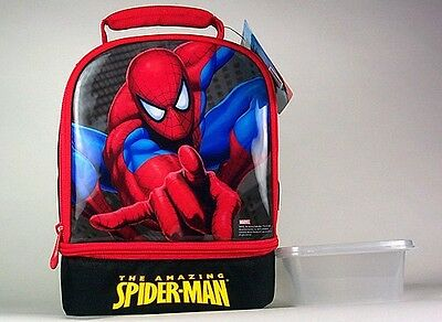 SPIDERMAN LUNCHBOX/COOLER plus sandwich box and CHILL PACK CANTEEN
