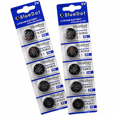 Qty 10 DL2032 CR2032 ECR2032 5004LC Button Cell Battery USA US FREE SHIP 3 Volt