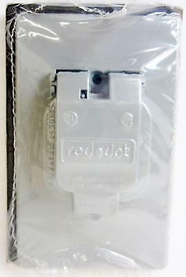 Thomas And Betts Wr104-Cv Single Outlet Cover, Steel City, Single Receptacle -