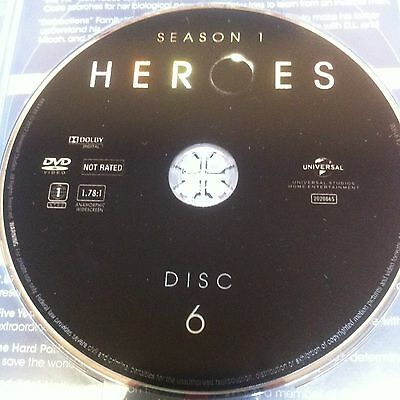 HEROES Season One (DVD) REPLACEMENT DISC #6