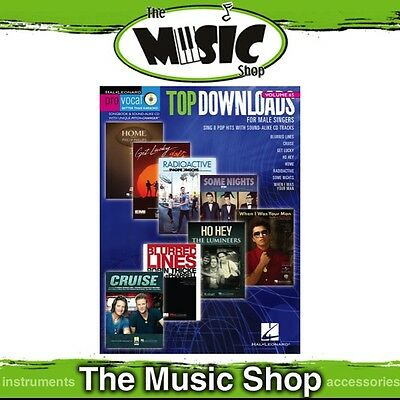New Top Downloads Pro Vocal Men's Edition Book & CD - Volume 65