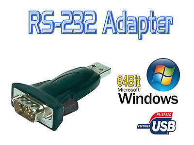 Logilink AU0002E Seriell RS-232 9 Pin to USB A Converter Adapter for Win8 XP