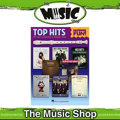 New Top Hits Recorder Fun Music Book - EZ Play Notation