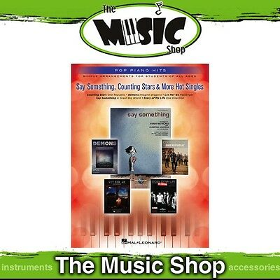New Say Something, Counting Stars & More Hot Singles Music Book - Pop Piano Hits
