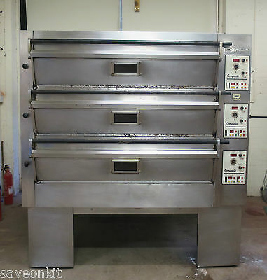 Tom Chandley 3 Deck 18 Tray Compacta Electric Bakery Pizza Electric Oven 3.6.8