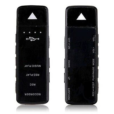 4GB USB Disk 48 hrs Recording Digital Audio Voice Recorder Dictaphone MP3 Player