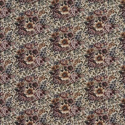B960 Pink Green And Orange Floral Tapestry Upholstery Fabric By The Yard