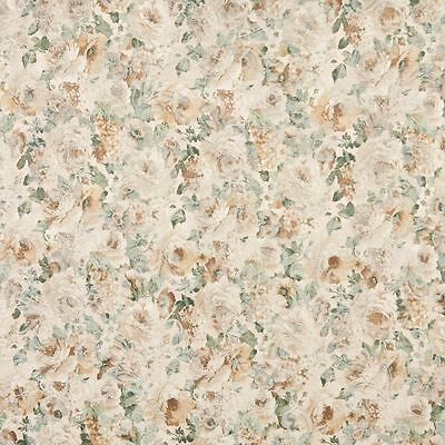 F831 Green And Gold Floral Garden Jacquard Woven Upholstery Fabric By The Yard