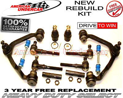 HD Ball Joint Control Arm Tie Rod Front End Chassis Kit fits Ford F150 4x4  2001