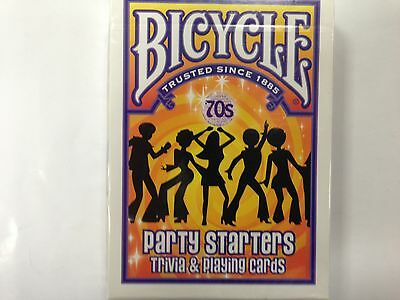 1 DECK  Bicycle 70's Deckades, Party Starters - Trivia and Playing Cards