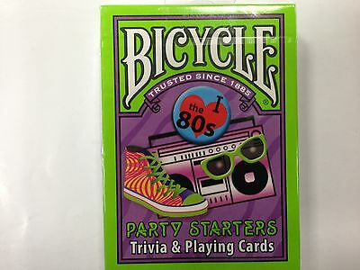 1 DECK  Bicycle 80's Deckades, Party Starters - Trivia and Playing Cards