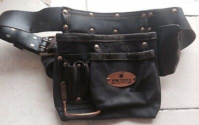 OIL TANNED LEATHER TOOLS APRON NAIL BAG TOOL BELT SINGLE POUCH Single