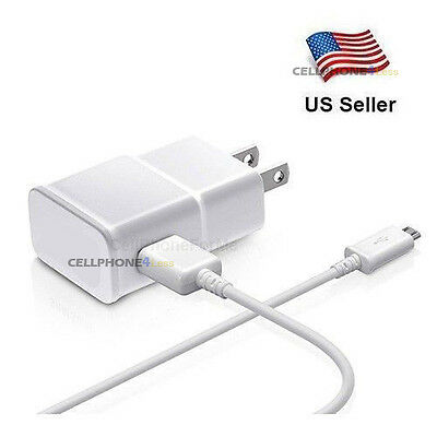 Original OEM Quality For Samsung Galaxy S2 S3 S4 Wall AC DC Adapter+USB Charger