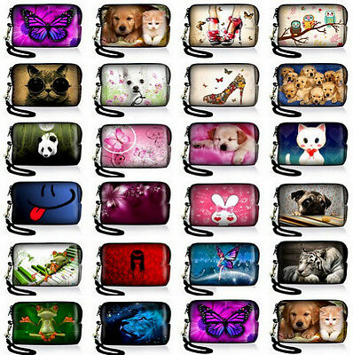 NEW Neoprene Case Bag Pouch For Digital Camera Cell Phone Itouch Iphone 3 4S 5