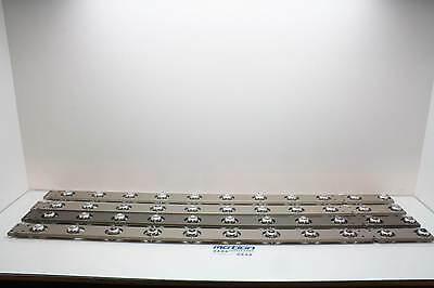 Lot of 44 Hudson Ball Transfer Conveyor Bearings on Aluminum Mounting Rails