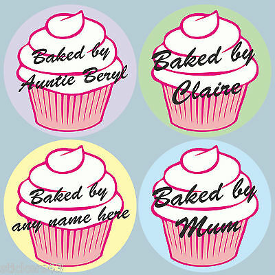 personalised stickers labels high quality vinyl for cakes  cake box cupcakes etc