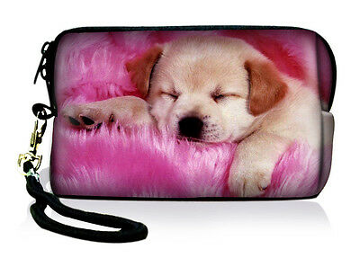 Cute Dog Neoprene Case Bag Pouch For Digital Camera CellPhone IPOD Touch Iphone