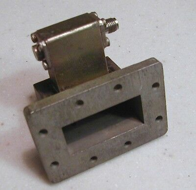 WR-137 (5.85-8.2 GHz) Waveguide Isoadapter Adapter to Type SMA (f) Coax Conn.