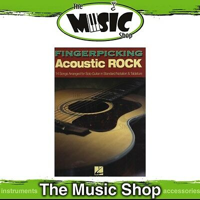New Fingerpicking Acoustic Rock for Guitar Music Book - Includes Tab