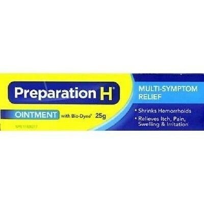 Canadian Preparation H Ointment 25g with Bio-Dyne, Shrink Hemorrhoids, Wrinkle