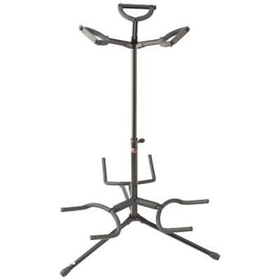 Stagg SG-A3000BK Triple Guitar Stand Black FREE UK Courier Delivery