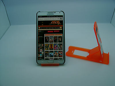 LOT OF 100 NEW STAND HOLDER CELL PHONE DISPLAY 1 in 1 BP07 ORANGE