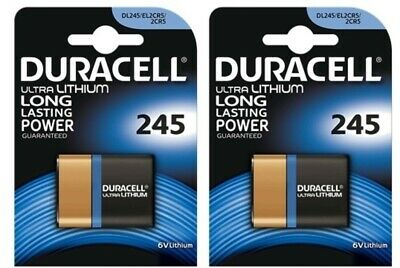 2 Pcs Sanyo 2CR5 DL245 Photo Lithium 6V by Duracell 2CR5 Batteries
