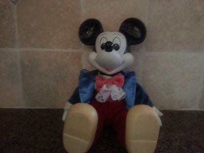 Vintage 1980's, Porcelain Mickey Mouse Musical Doll