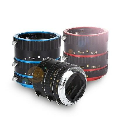 For Canon EOS EF EF-S DSLR Camera Metal AF Auto Focus Macro Extension Tube Set