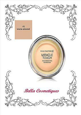 MAX FACTOR MIRACLE TOUCH FOUNDATION 45 WARM ALMOND makeup