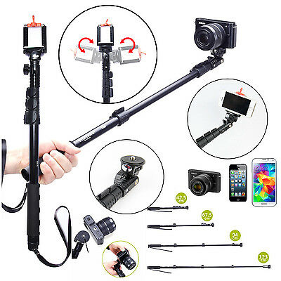 New Extendable Handheld Monopod Tripod Adapter Holder for Camera Cell Phones