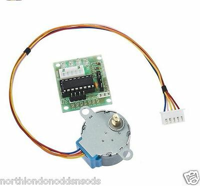 5V Stepper Motor 28BYJ-48 with Drive Module Board ULN2003 - 2 Pack (UK Stock)