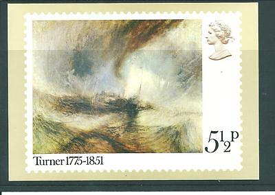 Gb - Phq Cards - 1975 - Bi-Centenary - Jmw Turner - Single Card  Set Mint