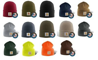 Carhartt A18 Acrylic Watch Hat Knit Beanie Cap Colors NEW One Size Fits All
