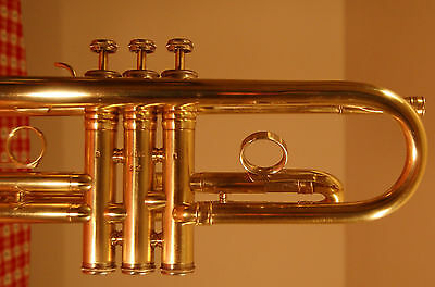 King Super 20 Trumpet Raw Brass Medium Large Bore with Original Case Model S2