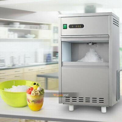 Appliances Freestanding Flake Ice Maker Machine Stainless Steel Bin Cube Compact